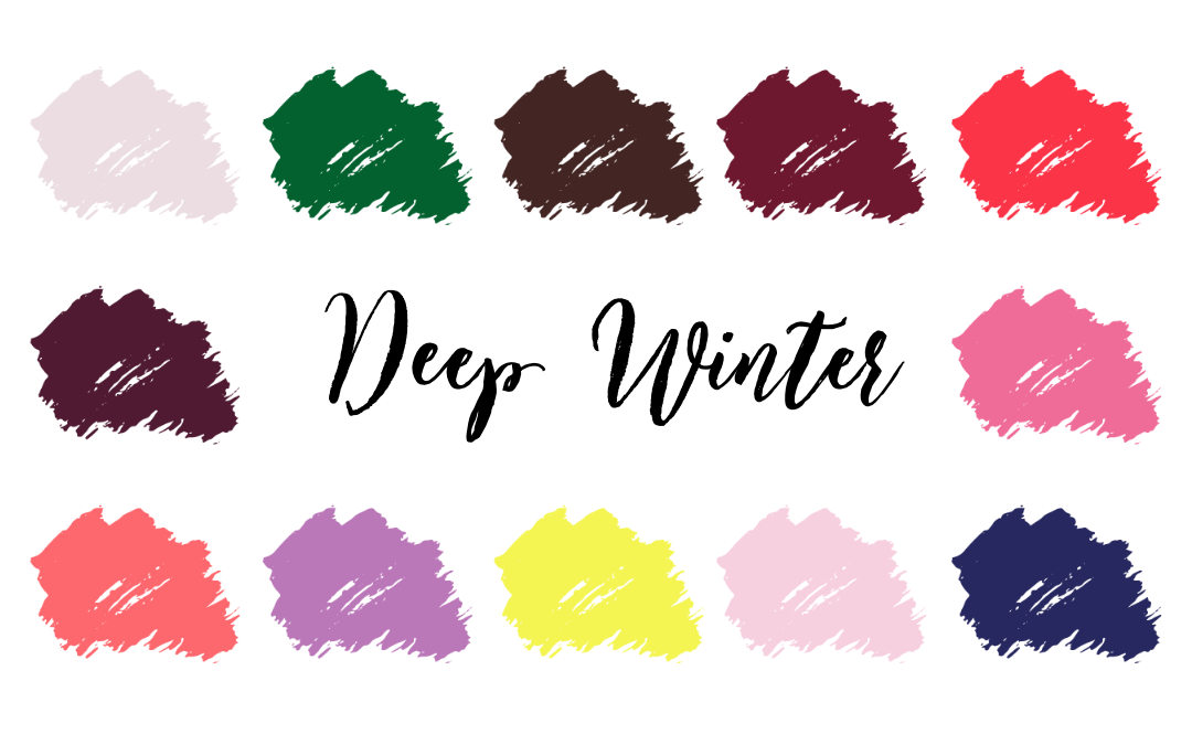 Deep Winter (Dark Winter) Palette